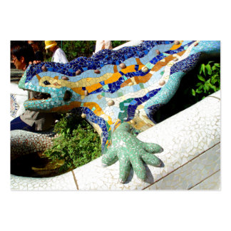 Gaudi Lizard Mosaics Large Business Cards (Pack Of 100)