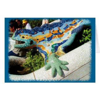 Gaudi Lizard Mosaics Card