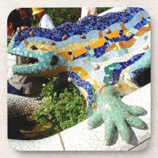 Gaudi Lizard Mosaics Coaster