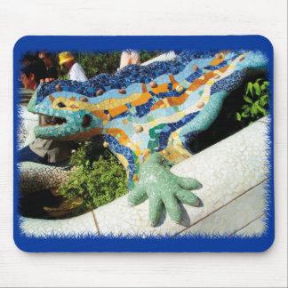 Gaudi Lizard Mosaics Mouse Mat