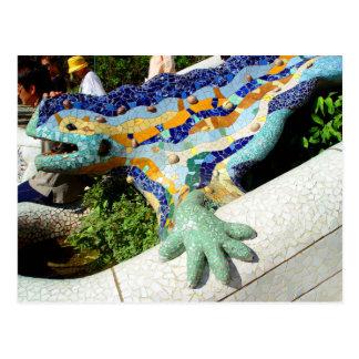 Gaudi Lizard Mosaics Postcard