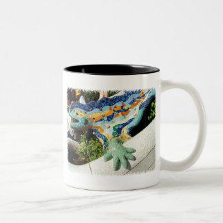 Gaudi Lizard Mosaics Two-Tone Mug