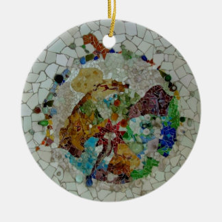 Gaudi Mosaic Christmas Ornament