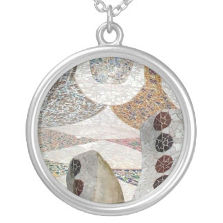 Gaudi Mosaic Silver Plated Necklace