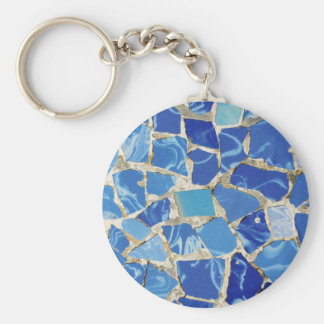 Gaudi Mosaics With an Oil Touch Basic Round Button Key Ring