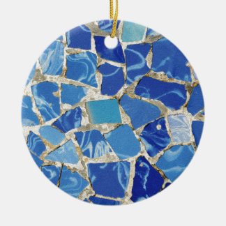 Gaudi Mosaics With an Oil Touch Christmas Ornament