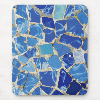 Gaudi Mosaics With an Oil Touch Mouse Pad