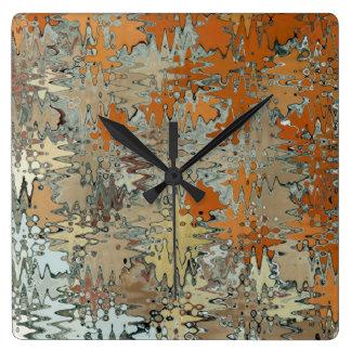 Gaudi Mozaic Abstraction Square Wall Clock