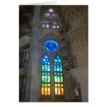 Gaudi - Sagrada Familia stained glass windows Greeting Card