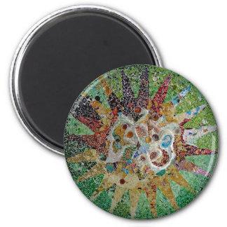 Gaudi Tiles 6 Cm Round Magnet