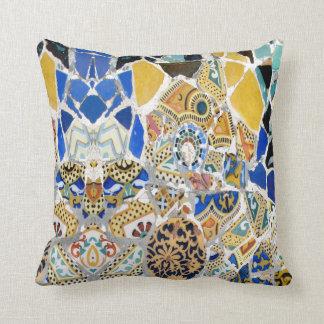 Gaudi Yellow Tiles - Mirror Cushion