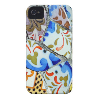 Gaudi's Park Guell Mosaic Tiles Case-Mate iPhone 4 Case