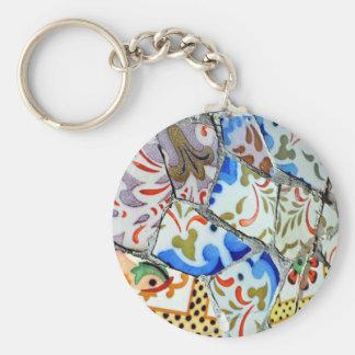 Gaudi's Park Guell Mosaic Tiles Keychain