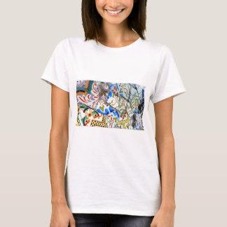 Gaudi's Park Guell Mosaic Tiles T-Shirt