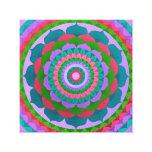 Gaudy flower Mandala Stretched Canvas Print