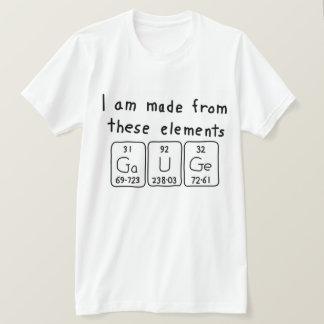 Gauge periodic table name shirt