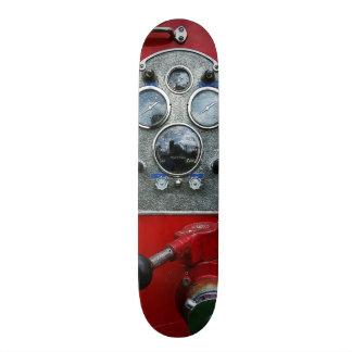 Gauges on Vintage Fire Truck Skateboard