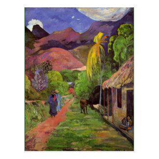 Gaugin - Road in Tahiti Postcard