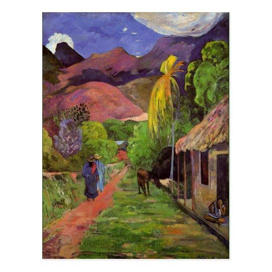 Gaugin - Road in Tahiti Postcard