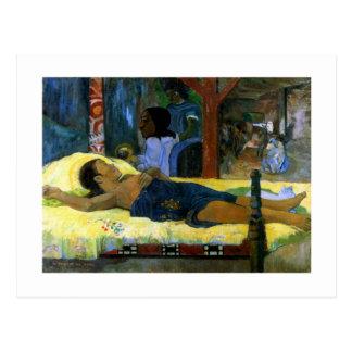 Gauguin art painting Tamari No Atua (Nativity) Postcard