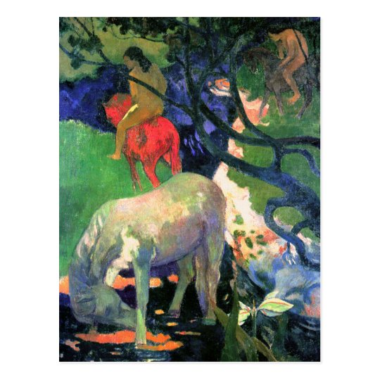 Gauguin Art Postcard: The White Horse Postcard