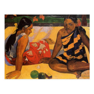 Gauguin French Polynesia Tahiti Women Postcard