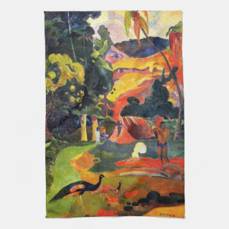Gauguin Landscape with Peacocks Kitchen Towel