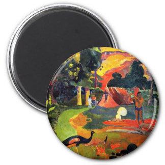 Gauguin Landscape with Peacocks Magnet
