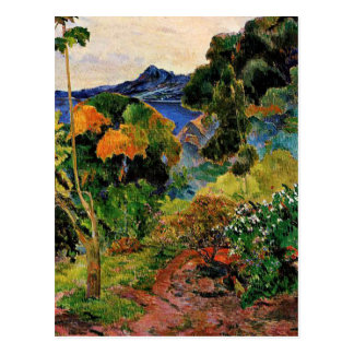 Gauguin - Martinique Landscape Postcard