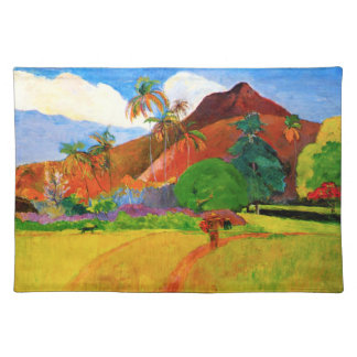 Gauguin Mountains in Tahiti Placemat