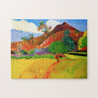 Gauguin Mountains in Tahiti Puzzle