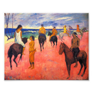 Gauguin Riders on the Beach Print