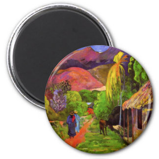 Gauguin Road in Tahiti Magnet