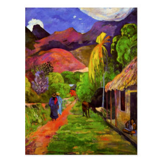 Gauguin Road in Tahiti Postcard