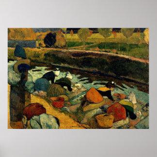 Gauguin - Washerwomen at Roubine du Roi Poster