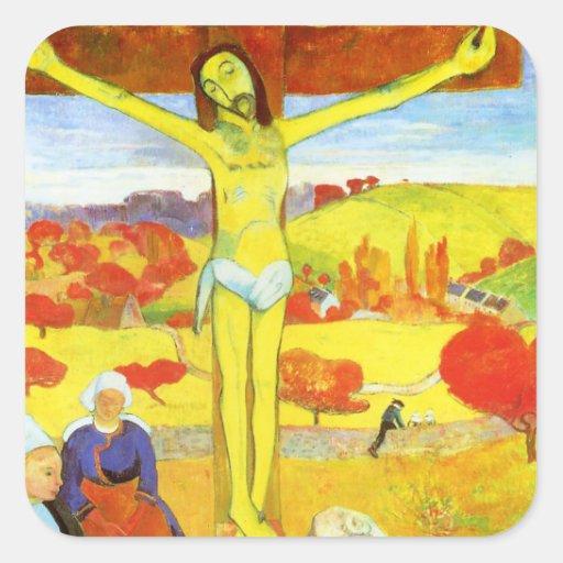 Gauguin Yellow Christ Stickers