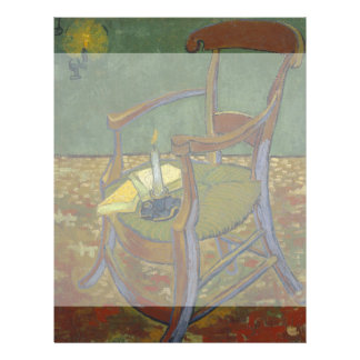 Gauguins Chair by Vincent Van Gogh Custom Flyer