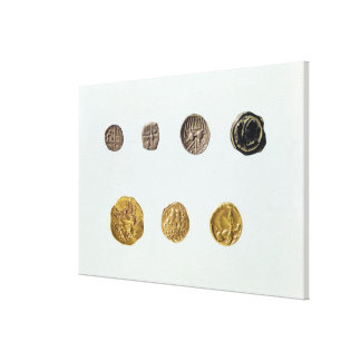 Gaulish coins, c.750-0 BC Gallery Wrapped Canvas