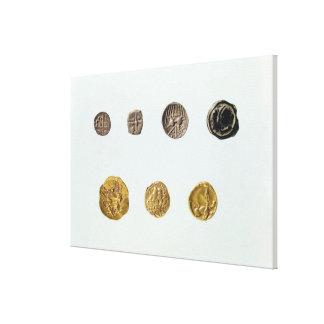 Gaulish coins, c.750-0 BC Canvas Print