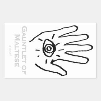 Gauntlet of Maltese Sticker. Rectangular Sticker