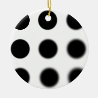 Gaussian 9 grid.png round ceramic decoration