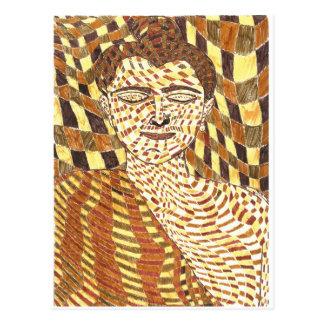 gautama Buddha psychedelic Postcard