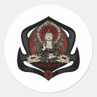 Gautama Buddha Round Sticker