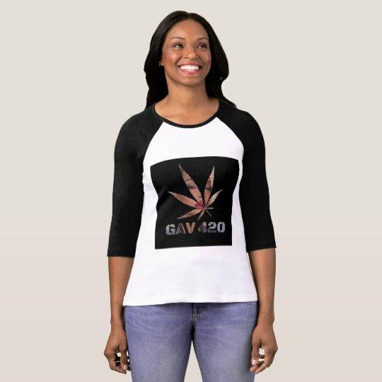 GAV Goddess Logo Printed T-Shirt by #GrindAndVape