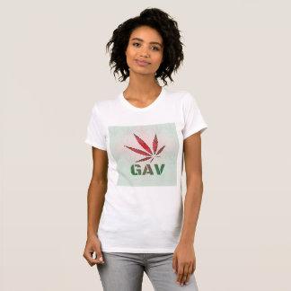 GAV Red/Green Leaf Fade Logo Print T-Shirt