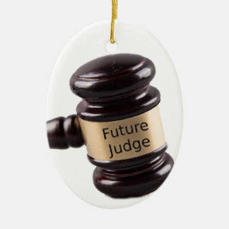 Gavel Design For Aspiring Judges And Lawyers Ceramic Oval Decoration