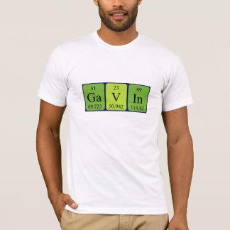 Gavin periodic table name shirt