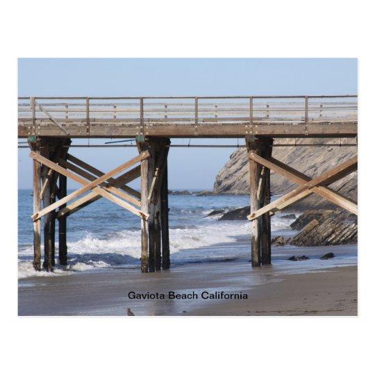 Gaviota Beach California Postcard