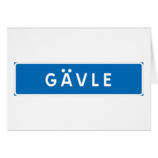 Gavle, Swedish road sign Greeting Card