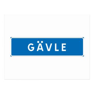 Gavle, Swedish road sign Postcard